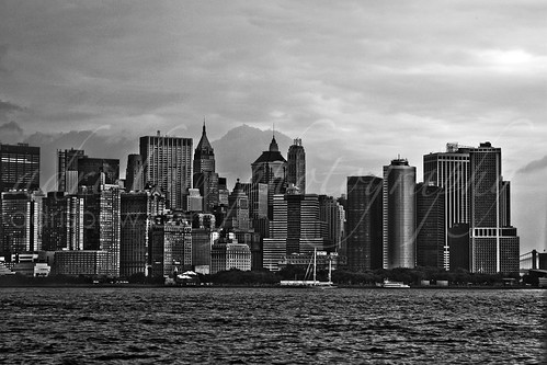 NYC Skyline Financial District (BW)
