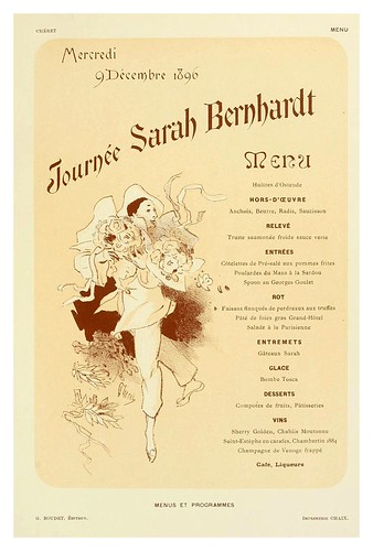001-Les menus & programmes illustrés; invitations, billets de faire part, cartes d'adresse, petites estampes du XVIIe siècle jusqu'à nos jours (1898)