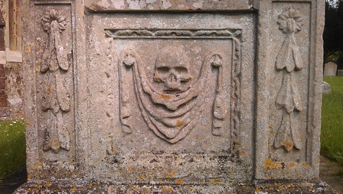 Ornate carvings on a tomb in Abbotsley