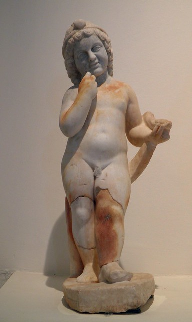 Statuette of Harpokrates, the companion of Isis, from the sanctuary of Isis, Archaeological Museum, Dion