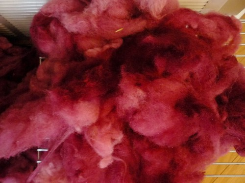 Dyed fleece