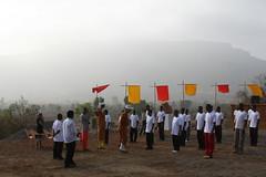 Sat, 01/01/2005 - 12:38 - Shifu yanfang and Shifu Kanishka training the students