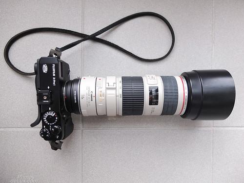 Fuji X-Pro 1 with EF 70-200m f4 L + 1.4x TC