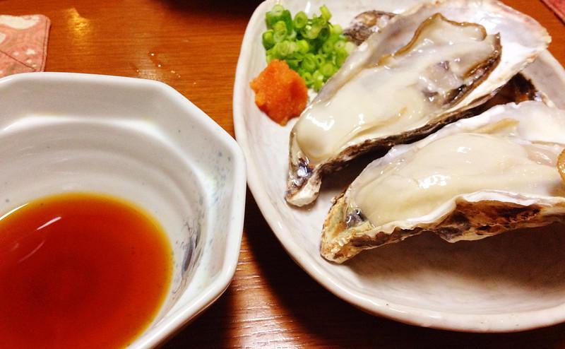 生牡蠣 (美味か宿 藁)