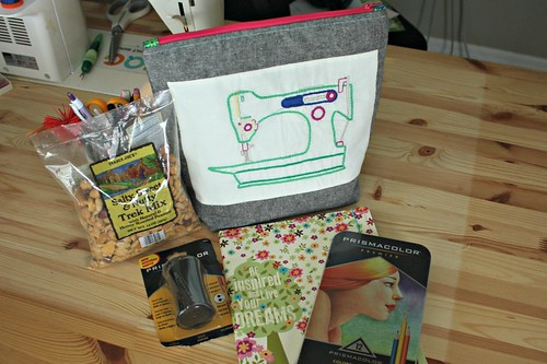 A bunch of the Sew Secret Agent goodies I gave at the Stash Bash