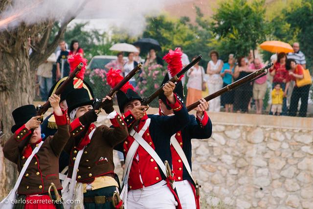 Recreación de batalla - guerra de la Independencia
