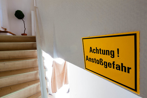 Anstoßgefahr; copyright 2014: Georg Berg