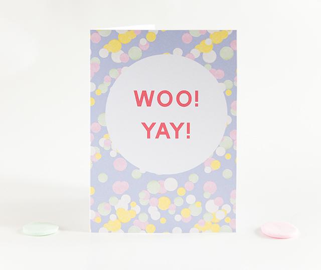 woo! yay! card