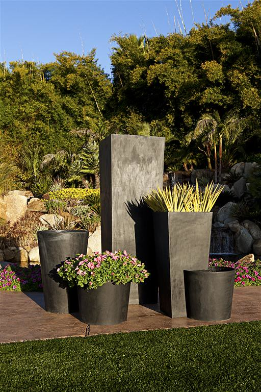 Tall Square Vase, Square Modular Planter & Tall Cylinder Vase