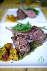 meal, lunch, vegetable, chimichurri, beef tenderloin, food, dish, cuisine,