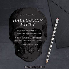 It's never too early to start preparing for Halloween! This is a skull die cut Halloween party invitation I designed for @greenvelope :skull: #halloween #party #partyinvitations #invitations