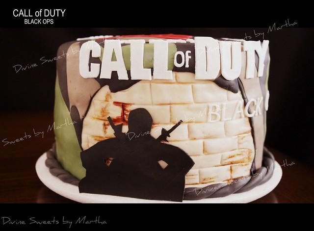 COD Black OPS cake