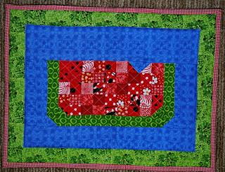 Placemat Quilt Swap 6 - Watermelon Side