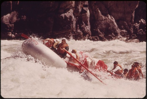 Shooting Wild Sheep Rapids on the Snake River in Hells Canyon..., 05/1973