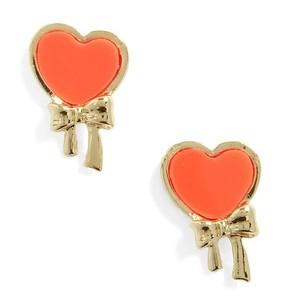 Tied by Tied Orange Earrings
