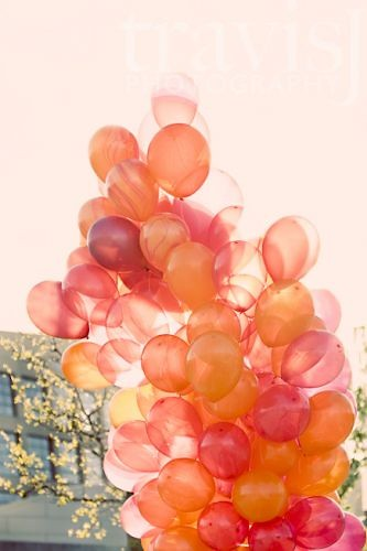 peach balloons