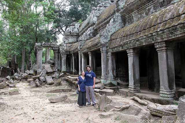 Rachel and Logan at Ta Prohm