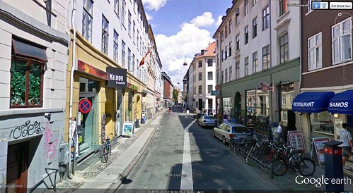 Copenhagen walking route start (via Google Earth)