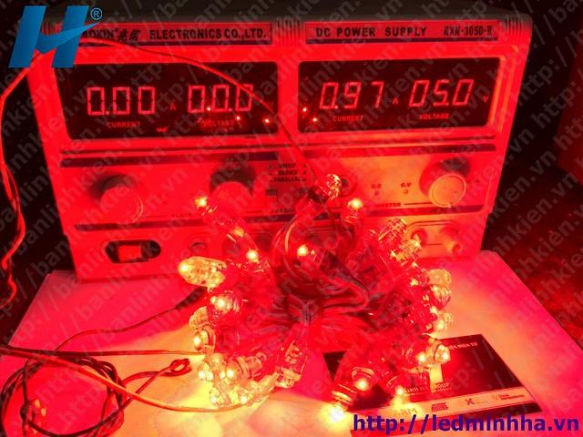 LED Đúc Phi 8 Đế 12 Đỏ