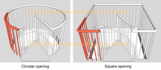 Civik Landing Balustrade Kit Arke Spiral Stair