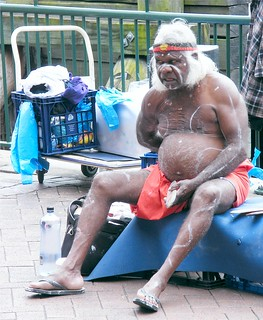Old Aborigine At Sydney Harbor