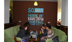Essex SU Bar wall graphic