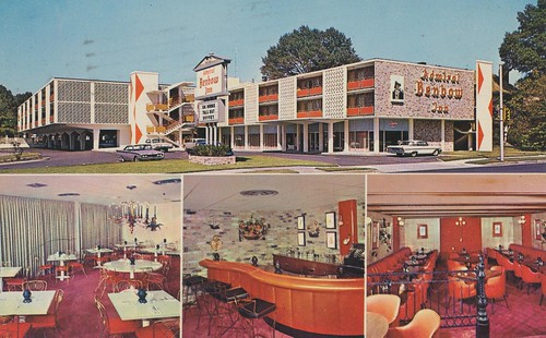 vintage inn memphis tennessee postcard motel 1963 barview admiralbenbow restaurantview quadview