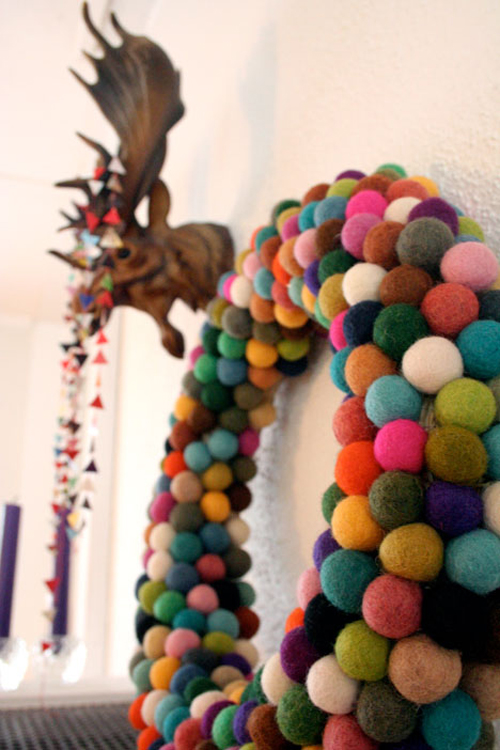 Diy colorful christmas wreath the style files - Awesome christmas wreath with homemade style ...