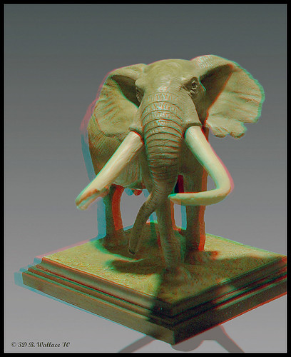 sculpture elephant art effects stereoscopic 3d md quality brian maryland anaglyph ps indoors stereo wallace inside easton throughthewindow stereoscopy stereographic ewf ttw brianwallace stereoimage stereopicture