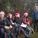 Santa goes hiking