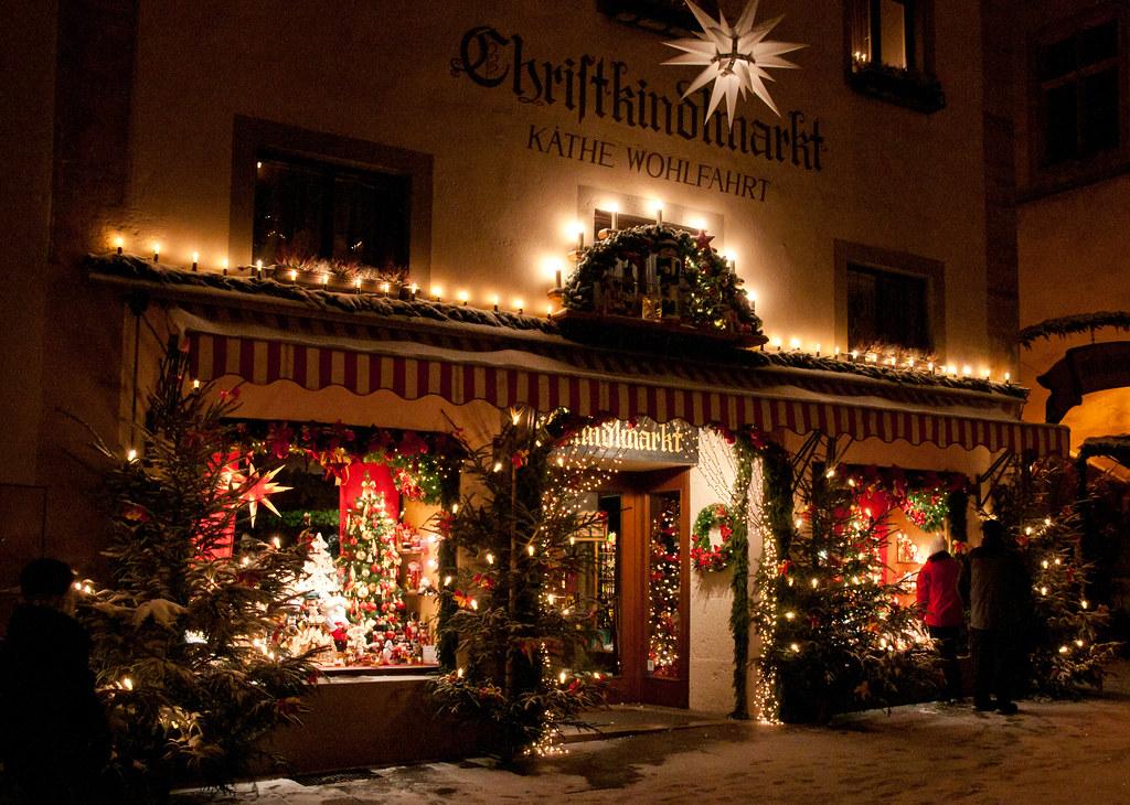 Tienda navideña de Kathe Wohlfahrt en Rothenburg. Uno de los pueblos más famosos de la Ruta de los mercadillos navideños alemanes