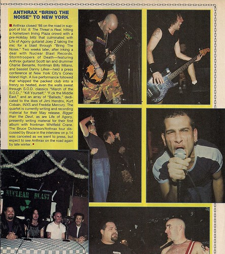 12/15/98 S.O.D. @ Coney Island High, NYC, NY (Metal Edge Magazine)