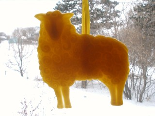 Beeswax Sheep Ornament