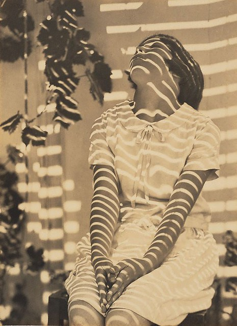 Pergola Pattern, Cazneaux's daughter, by Harold Cazneaux 1931