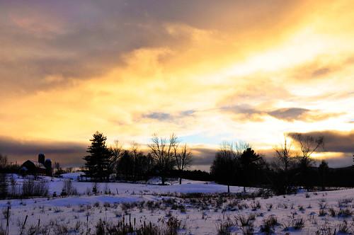 sunset vermont