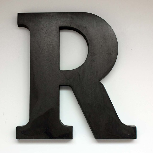 Letter r large 2 flickr photo sharing for Large initial letters