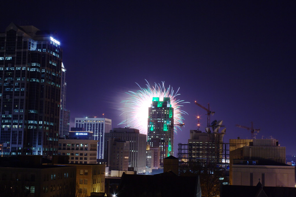 Raleigh, NC: New Year's fireworks: 1024x682 OC Larger ...