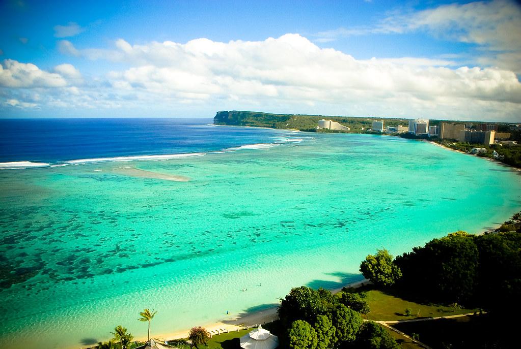 Guam, Tumon Bay beachfront