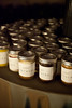 Cake jars with Panthera logo offered as gifts for wedding guests
