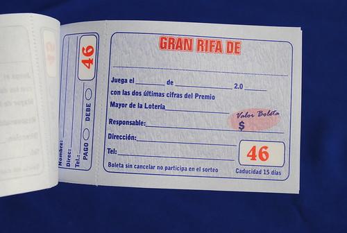 Formato de talonario de rifa - Imagui