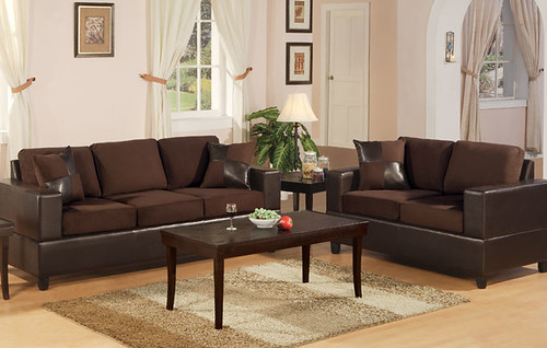 Brown Microfiber Sofa & Love Seat $649.00