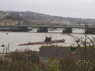 Submarine on the River Medway
