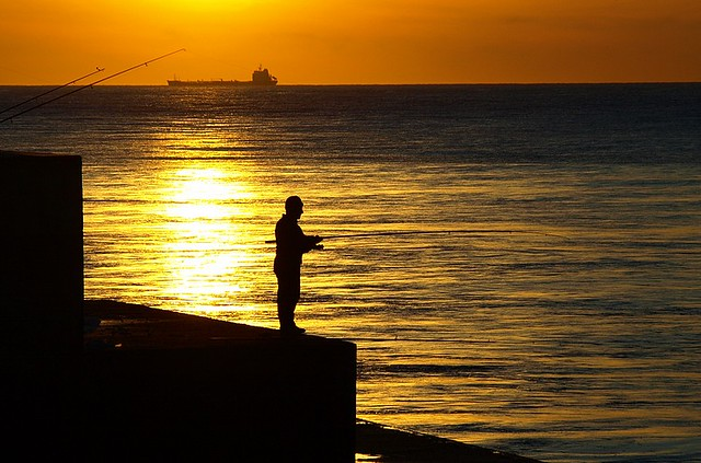 The fisherman of sunset
