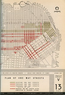 Plan of One Way Streets (San Francisco, 1948)