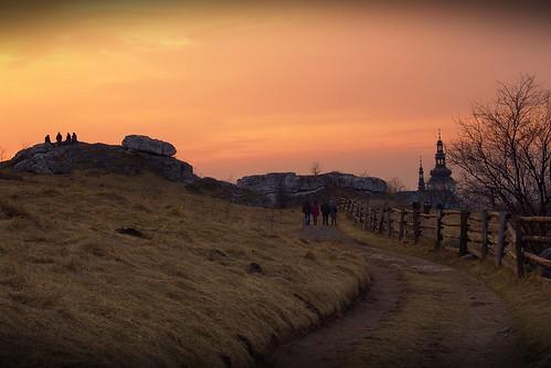 trees sunset sky castle history town ruins colours path stones poland polska historia olsztyn miasto silesia kolory zamek śląsk niebo ruiny zachódsłońca drzewa częstochowa ścieżka