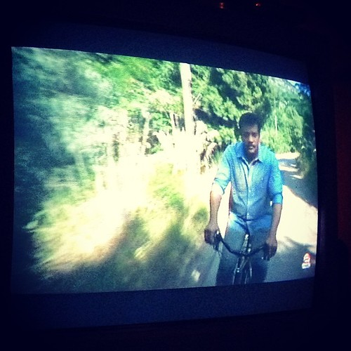 Neil deGrasse Tyson. Rides a bike. #cosmos #neildegrassetyson