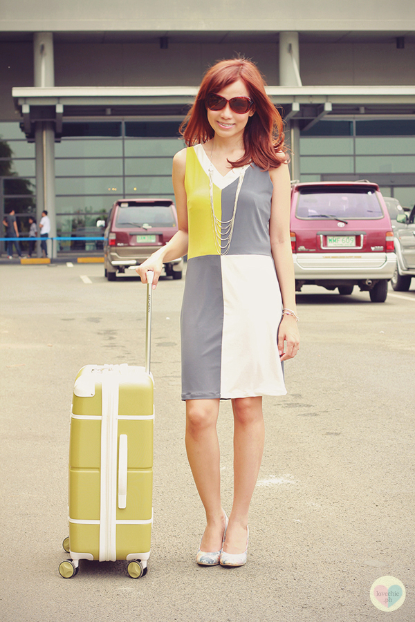 love chic tumblr lovechic asian fashion blog shai lagarde shailagarde style fashion blogger travel naia airport incheon cebu pacific flight yellow lime avocado green grey colorblocking dress cole vintage summer corporate forever21 heels floral korea 1
