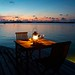 Romantic dinner on the dock