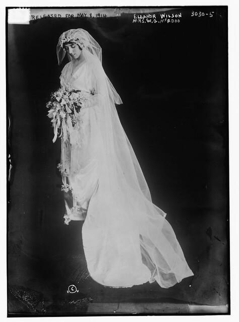 Eleanor Wilson Mrs WG McAdoo in wedding dress LOC
