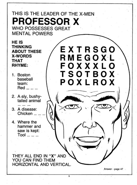 X-Men Super Activity Book00006